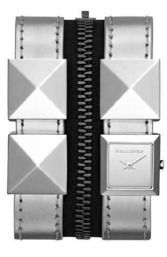 Karl Lagerfeld Damen-Armbanduhr Analog Quarz Leder KL2008