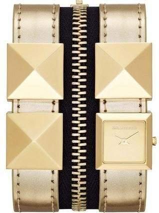 Karl Lagerfeld Damen-Armbanduhr Analog Quarz Leder KL2009