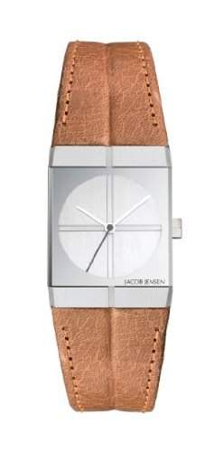 Jacob Jensen Damen-Armbanduhr Icon Series 243 Analog Leder Braun 243