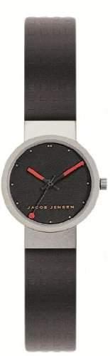 Jacob Jensen Damen-Armbanduhr Clear Series 420 Analog Gummi schwarz 420