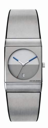Jacob Jensen Herren-Armbanduhr Classic Series 512 Analog Gummi Silber 512