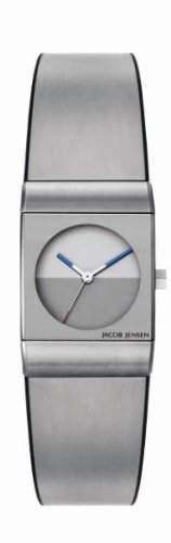 Jacob Jensen Damen-Armbanduhr Classic Series 522 Analog Gummi Silber 522