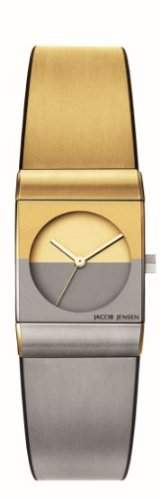 Jacob Jensen Damen-Armbanduhr Classic Series 523 Analog Gummi Mehrfarbig 523