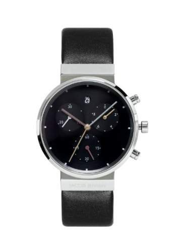Jacob Jensen Damen-Armbanduhr Chronograph Series 613 Chronograph leder schwarz 613