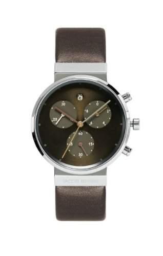 Jacob Jensen Damen-Armbanduhr Chronograph Series 614 Chronograph Leder braun 614