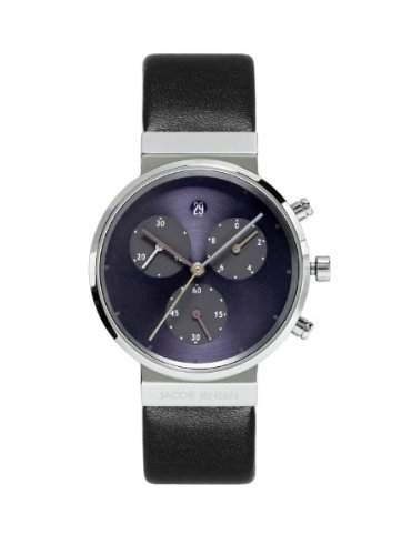 Jacob Jensen Damen-Armbanduhr Chronograph Series 615 Chronograph Leder Schwarz 615