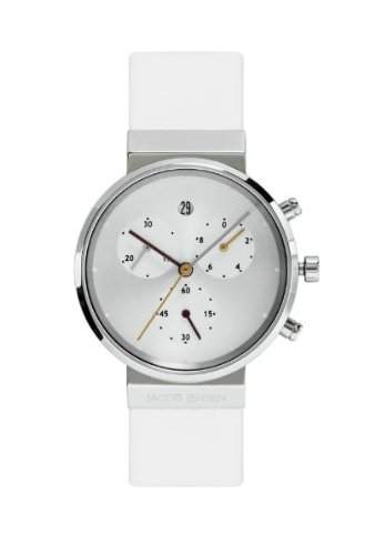 Jacob Jensen Damen-Armbanduhr Chronograph Series 616 Chronograph leder weiss 616