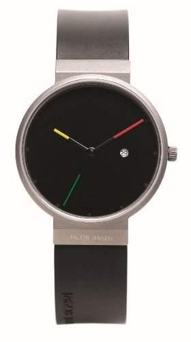 Jacob Jensen Herren-Armbanduhr Titanium Series 640 Analog kautschuk schwarz 640