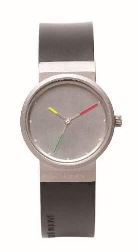 Jacob Jensen Damen-Armbanduhr Titanium Series 651 Analog kautschuk schwarz 651