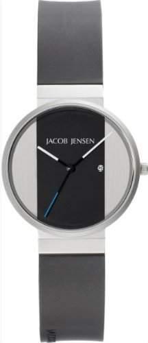Jacob Jensen Herren-Armbanduhr New Series 712 Analog Gummi Schwarz 712