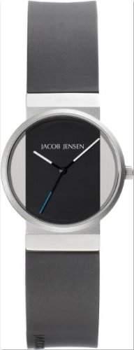 Jacob Jensen - 722 Damen-Armbanduhr Monna Quarz analog Gummi Schwarz