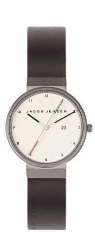 Jacob Jensen Herren-Armbanduhr New Series 733 Analog Gummi Schwarz 733