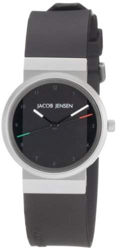 JACOB JENSEN Damen-Armbanduhr JACOB JENSEN NEW SERIES ITEM NO 742 Analog Quarz Kautschuk JACOB JENSEN NEW SERIES ITEM NO 742