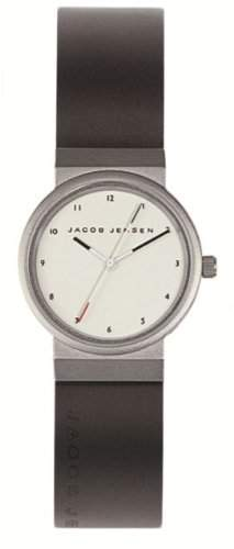 Jacob Jensen Damen-Armbanduhr New Series 743 Analog kautschuk schwarz 743