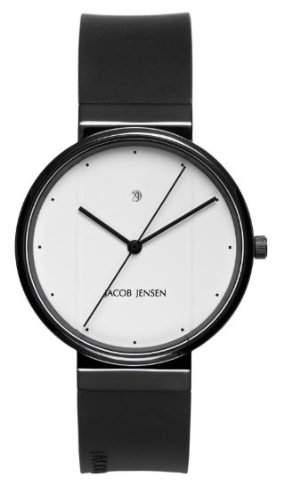 Jacob Jensen Herren-Armbanduhr New Series 752 Analog kautschuk schwarz 752