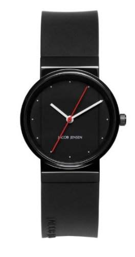 Jacob Jensen Damen-Armbanduhr New Series 763 Analog kautschuk schwarz 763