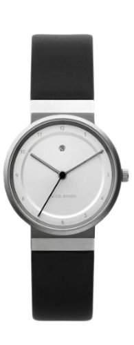 Jacob Jensen Damen-Armbanduhr Dimension Series 871 Analog Leder Schwarz 871