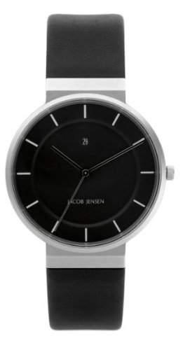 Jacob Jensen Herren-Armbanduhr Dimension Series 880 Analog leder schwarz 880