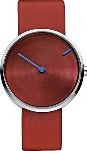 JACOB JENSEN Unisex-Armbanduhr CURVE SERIES Analog Quarz Leder 255