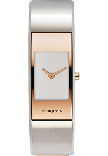 Jacob Jensen Damen Armbanduhr Analog Quarz Edelstahl 32455