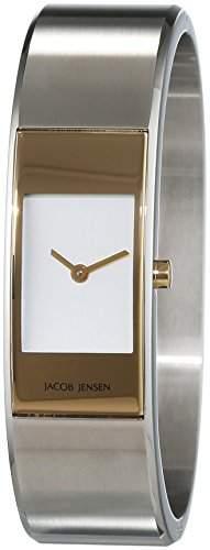 JACOB JENSEN Damen-Armbanduhr Analog Quarz Edelstahl ECLIPSE ITEM NO 462