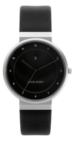 Jacob Jensen Herren Armbanduhr Dimension Series 860 Analog Leder Schwarz 860