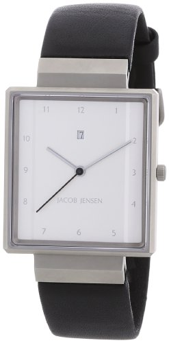 Jacob Jensen Herrenarmbanduhr Rectangular 32866