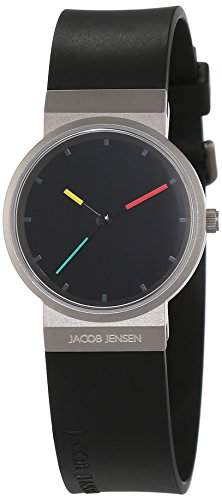 JACOB JENSEN Damen-Armbanduhr Analog Quarz Kautschuk ITEM NO 650