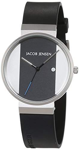 JACOB JENSEN Unisex-Armbanduhr JACOB JENSEN NEW SERIES ITEM NO 712 Analog Quarz Kautschuk JACOB JENSEN NEW SERIES ITEM NO 712