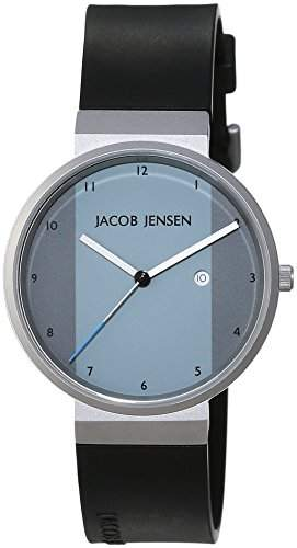 JACOB JENSEN Unisex-Armbanduhr JACOB JENSEN NEW SERIES ITEM NO 731 Analog Quarz Kautschuk JACOB JENSEN NEW SERIES ITEM NO 731