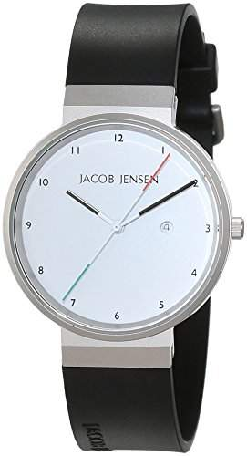 JACOB JENSEN Unisex-Armbanduhr JACOB JENSEN NEW SERIES ITEM NO 733 Analog Quarz Kautschuk JACOB JENSEN NEW SERIES ITEM NO 733