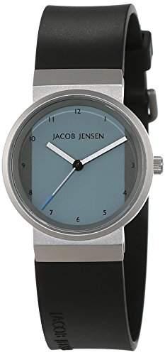 JACOB JENSEN Damen-Armbanduhr JACOB JENSEN NEW SERIES ITEM NO 741 Analog Quarz Kautschuk JACOB JENSEN NEW SERIES ITEM NO 741