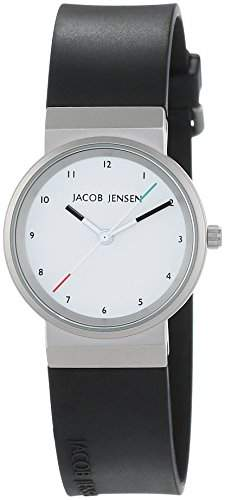 JACOB JENSEN Damen-Armbanduhr JACOB JENSEN NEW SERIES ITEM NO 743 Analog Quarz Kautschuk JACOB JENSEN NEW SERIES ITEM NO 743