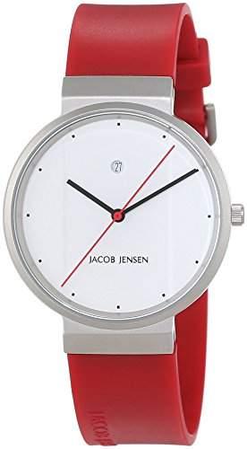 JACOB JENSEN Unisex-Armbanduhr JACOB JENSEN NEW SERIES ITEM NO 751 Analog Quarz Kautschuk JACOB JENSEN NEW SERIES ITEM NO 751