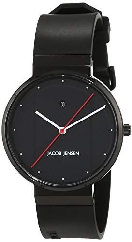 JACOB JENSEN Unisex-Armbanduhr JACOB JENSEN NEW SERIES ITEM NO 753 Analog Quarz Kautschuk JACOB JENSEN NEW SERIES ITEM NO 753