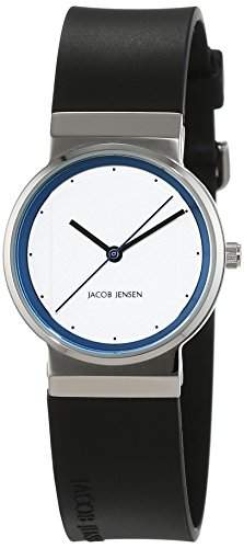 JACOB JENSEN Damen-Armbanduhr JACOB JENSEN NEW SERIES ITEM NO 760 Analog Quarz Kautschuk JACOB JENSEN NEW SERIES ITEM NO 760