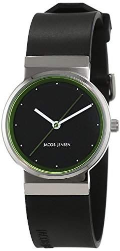 JACOB JENSEN Damen-Armbanduhr Analog Quarz Kautschuk NEW SERIES ITEM NO 767