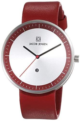 JACOB JENSEN Unisex-Armbanduhr STRATA SERIES Analog Quarz Leder 273