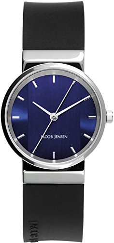 JACOB JENSEN Unisex Armbanduhr Analog Quarz Kautschuk JACOB JENSEN NEW SERIES NO 749
