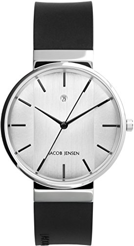 JACOB JENSEN Unisex Armbanduhr Analog Quarz Kautschuk JACOB JENSEN NEW SERIES NO 737
