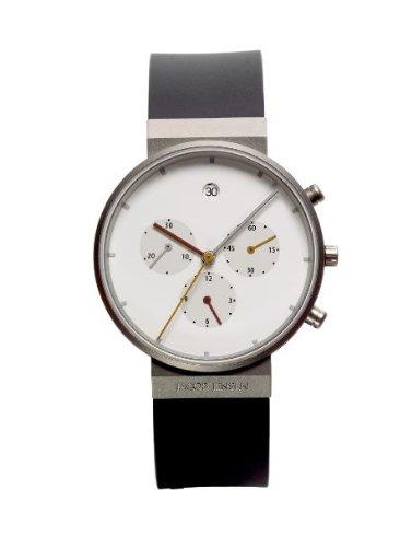Jacob Jensen Unisex Armbanduhr Chronograph Series 601 Chronograph kautschuk schwarz 601
