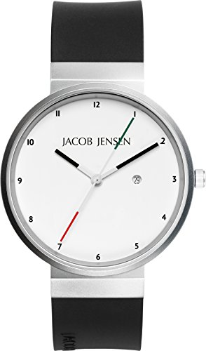 JACOB JENSEN Unisex Armbanduhr JACOB JENSEN NEW SERIES NO 703 Analog Quarz Kautschuk JACOB JENSEN NEW SERIES NO 703