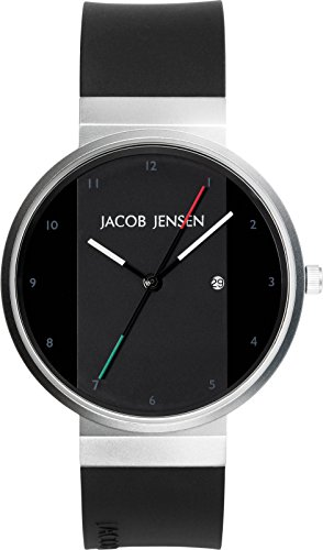 JACOB JENSEN Unisex Armbanduhr JACOB JENSEN NEW SERIES NO 702 Analog Quarz Kautschuk JACOB JENSEN NEW SERIES NO 702