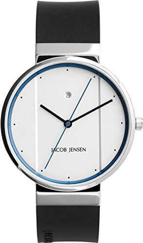 JACOB JENSEN Unisex Armbanduhr JACOB JENSEN NEW SERIES NO 770 Analog Quarz Kautschuk JACOB JENSEN NEW SERIES NO 770