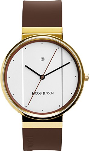 JACOB JENSEN Unisex Armbanduhr JACOB JENSEN NEW SERIES NO 778 Analog Quarz Kautschuk JACOB JENSEN NEW SERIES NO 778