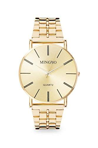 Mingbo Uhr Gold Mingbouhr Bloggeruhr Blogger Statement Damenuhr Designer