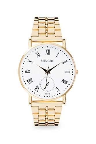 Mingbo Uhr Weiss Weiss Gold Mingbouhr Bloggeruhr Blogger Statement Damenuhr Designer