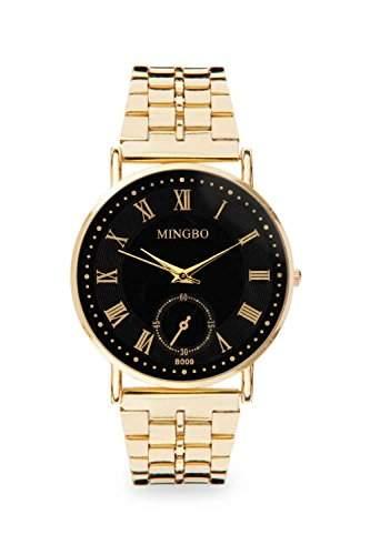 Mingbo Uhr Schwarz Gold Mingbouhr Bloggeruhr Blogger Statement Damenuhr Designer