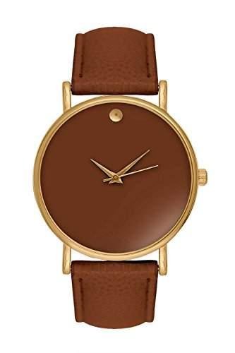 Damenuhr Statement Gold Braun Armbanduhr Blogger Uhr Trend Damenuhr Designer Bloggeruhr Swag Minimal Minimalistisch Schlicht Schlichte Hipster Nerd