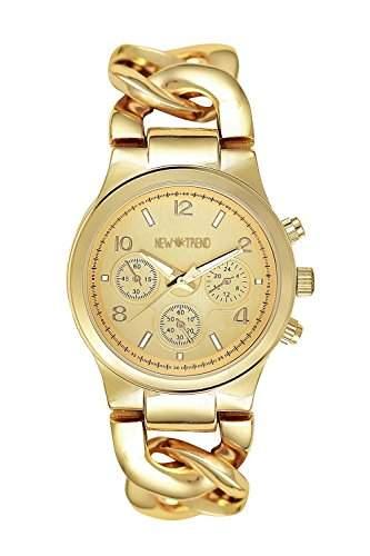 Edle Blogger Uhr Gold Trend Design Armbanduhr Damenuhr Rosegold Chronograph Optik